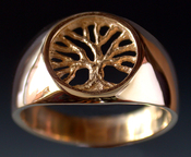 14K gold tree ring