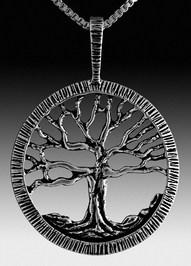 Silver Tree Of Life Pendant / Charm