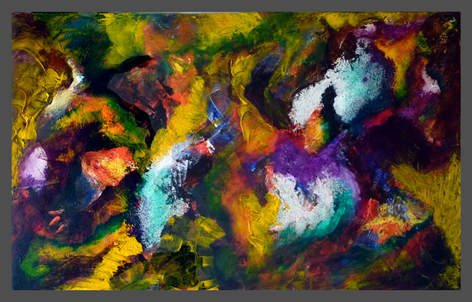 Galaxy-4. Abstract acrylic painting.
