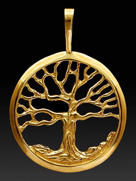 Gold charms and pendants rishar s jewelry tree of life pendant large aloadofball Gallery